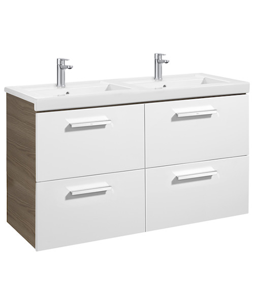 Additional image of Roca Prisma Unik 4-Drawer Vanity Unit And Basin - W 1200 x H 694mm
