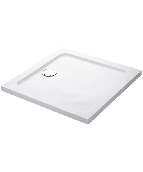 Mira Flight Low Square Shower Tray With Waste