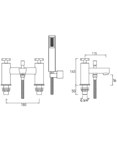 Technical drawing 51176 / CAS BSM C