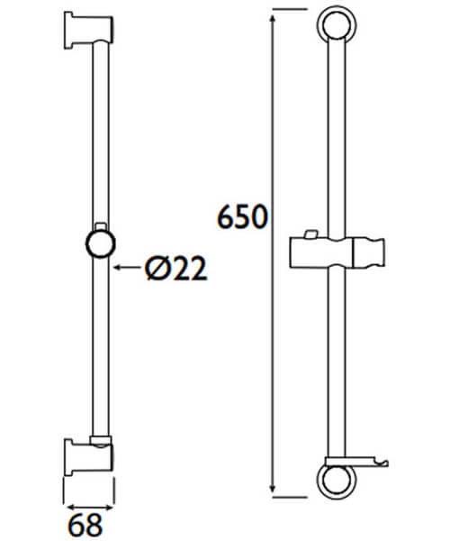 Technical drawing 39516 / CAS RRAIL01 C
