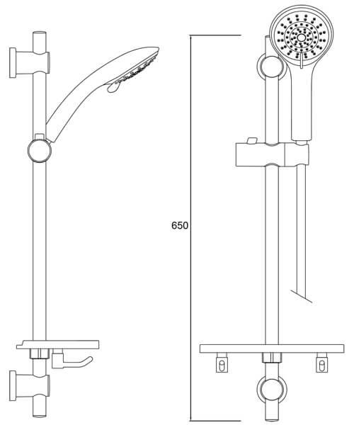 Alternate image of Bristan Shower Kit With Large Handset