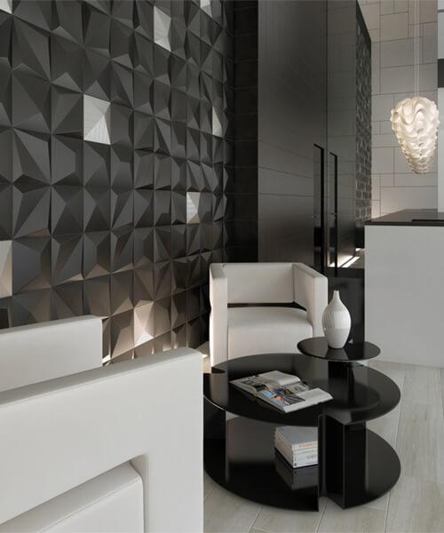 Additional image of Dune Shapes 1 Origami Black 25 x 25cm Ceramic Wall Tile