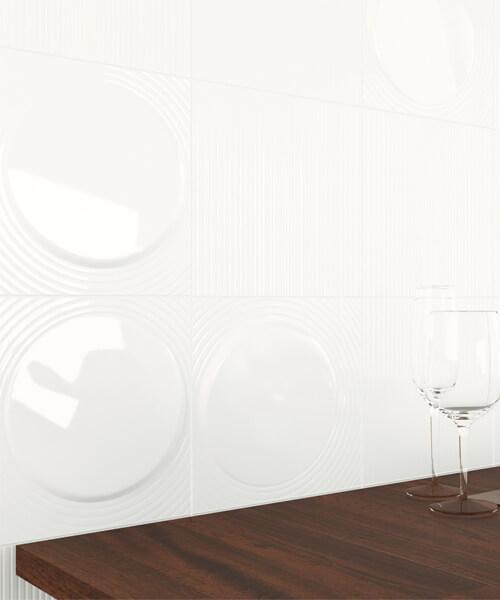 Dune Shapes 2 Luce 25 x 25cm Ceramic Wall Tile