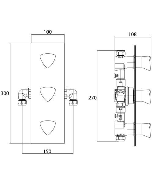 Technical drawing 51159 / BRG SHC3STP C