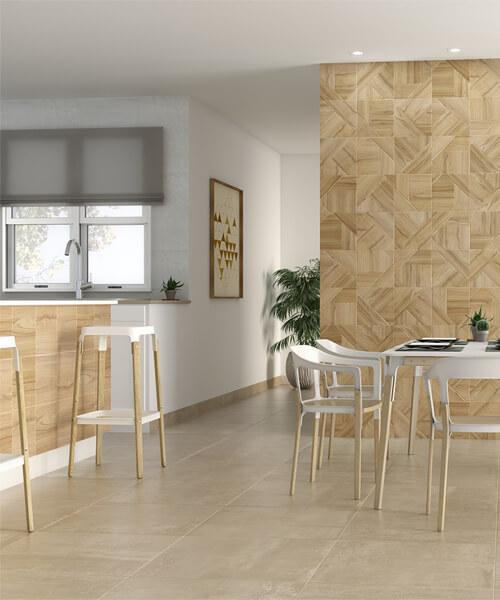 Dune Fancy Warm Rec 60 x 60cm Ceramic Floor And Wall Tiles