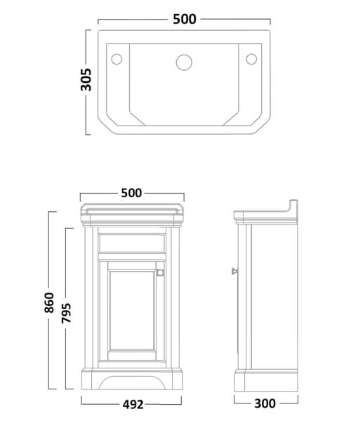 Technical drawing 41480 / VT50FLW