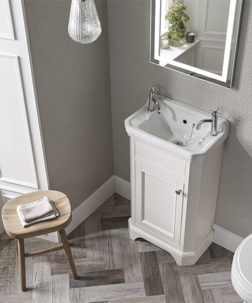 Tavistock Vitoria Cloakroom Unit And Basin Floor Standing - W 500 x H 860mm