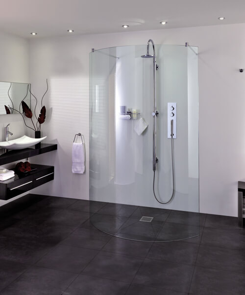 Aqata Spectra SP395 Walk In Double Entry Curved Shower Screen 1294mm