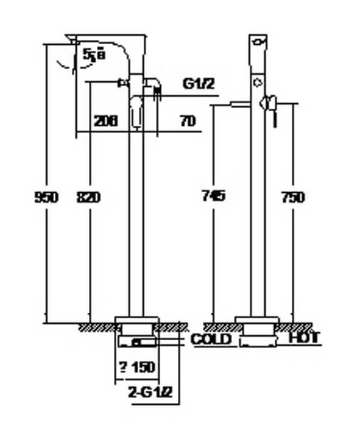 Technical drawing 58213 / S821-1500-01