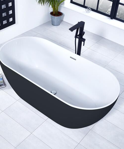 Alternate image of Frontline Aquaflow Italia Vibe Black Freestanding Bath Shower Mixer Tap