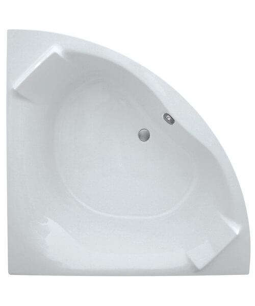Frontline Luxe 1400 x 1400mm Corner Bath With Built-In Headrest