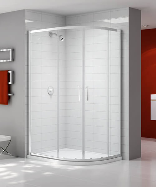 Merlyn Ionic Express Double Door Offset Quadrant Enclosure 900 x 760mm