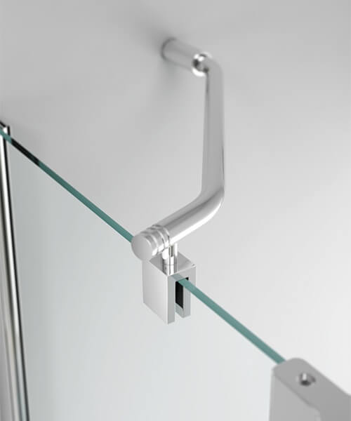Additional image of Merlyn Ionic 6mm Glass Two Panel Folding 900 x 1500mm Square Bath Screen