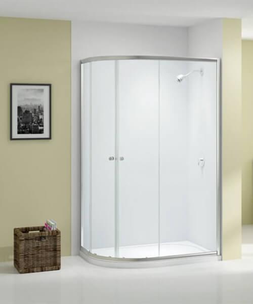 Merlyn Ionic Source Double Door Offset Quadrant Enclosure 1000 x 800mm