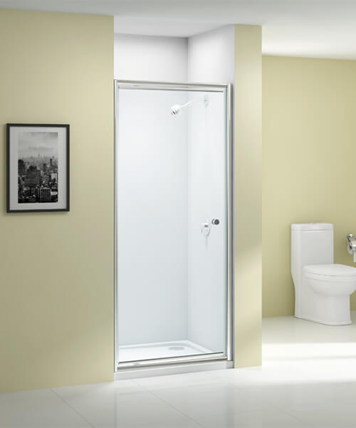Merlyn Ionic Source 6mm Glass Pivot Shower Door 760mm Wide