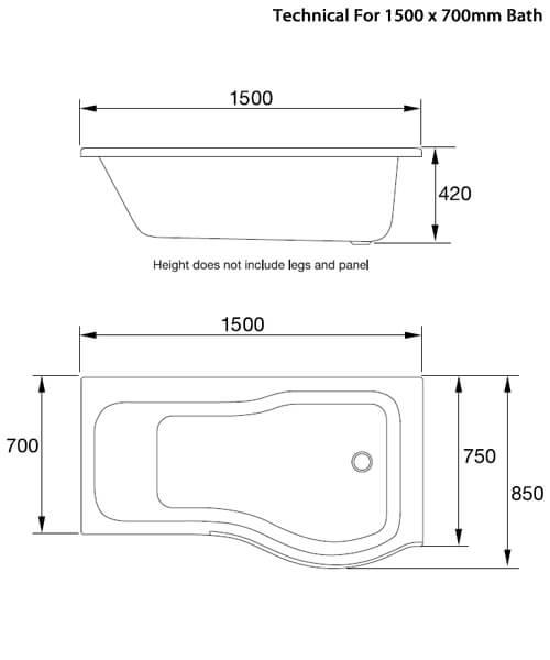 Technical drawing 59316 / AP28R1502L