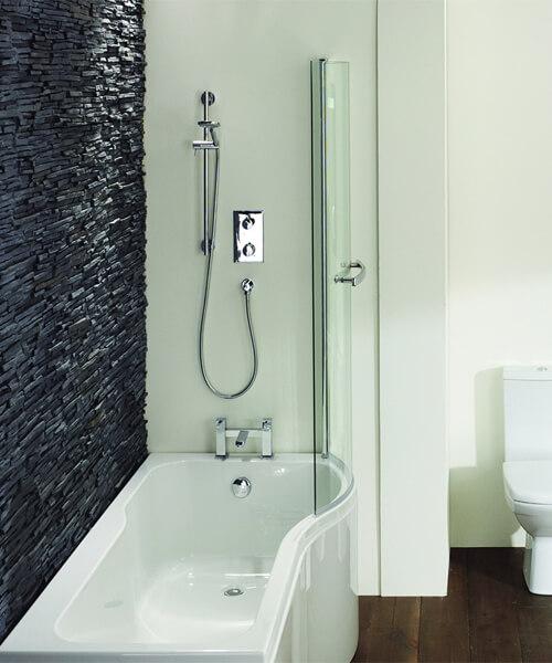 Frontline Luxury P 1500 x 700mm Shower Tungstenite Bath