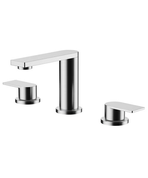 Frontline Aquaflow Edition Strand 3 Tap Hole Basin Mixer Tap With Click Clack Waste