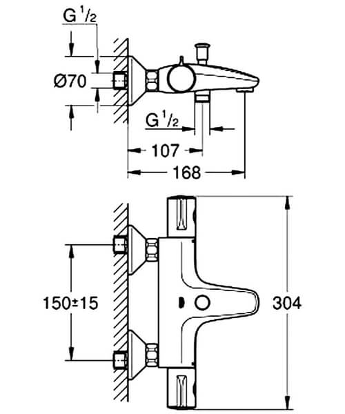 Technical drawing 55287 / 34567000