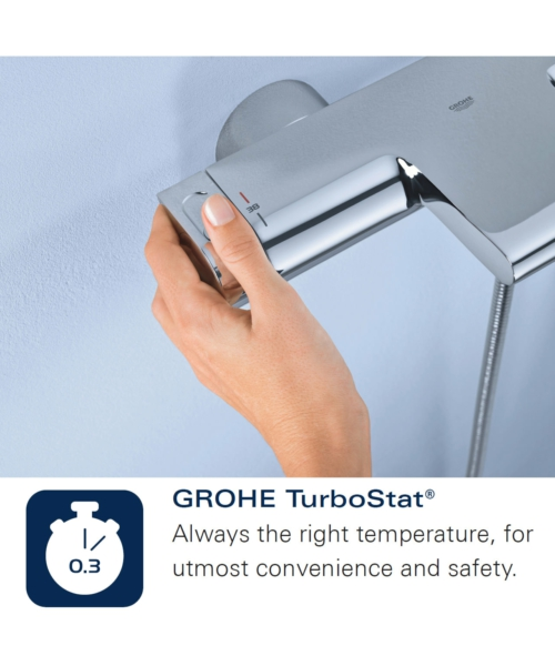 Additional image of Grohe Grohtherm 800mm Thermostatic Wall Mounted Bath And Shower Mixer Tap