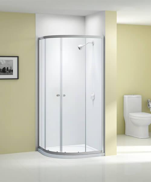 Merlyn Ionic Source 6mm Glass Double Door Quadrant Enclosure 800 x 800mm