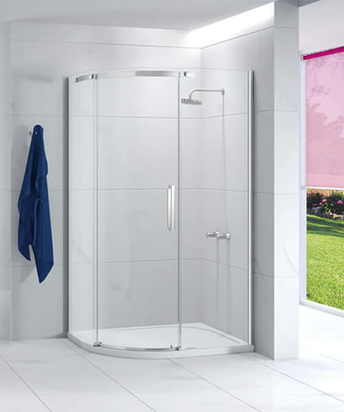 Merlyn Ionic Essence 1200 X 900mm Single Door Offset Quadrant Enclosure Left Handed