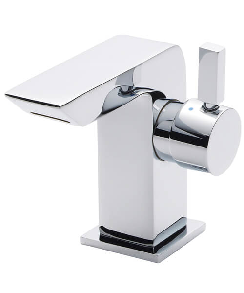 Hudson Reed Art Side Action Lever Mini Mono Basin Mixer Tap With Waste