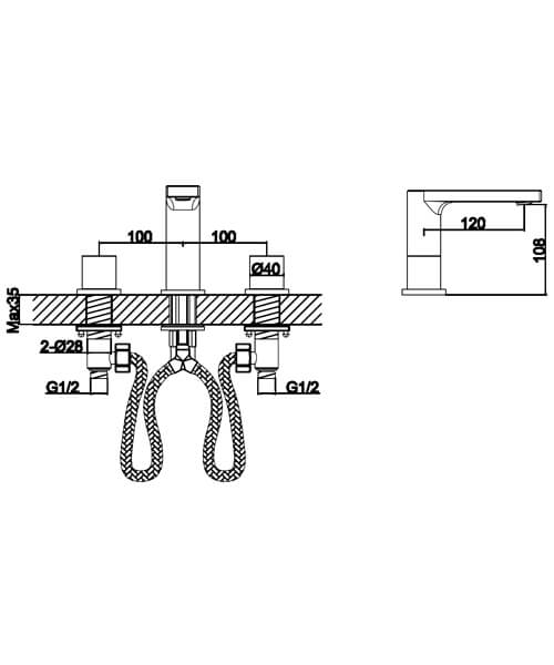 Technical drawing 60006 / S910-1000