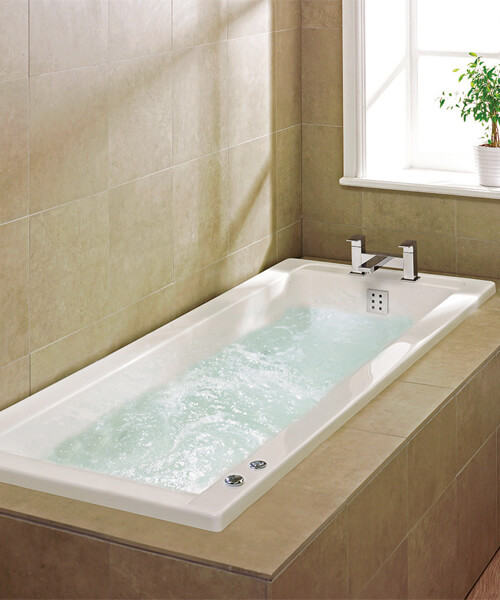 Frontline Atlanta 1700 x 700mm 6 Jet Whirlpool Bath