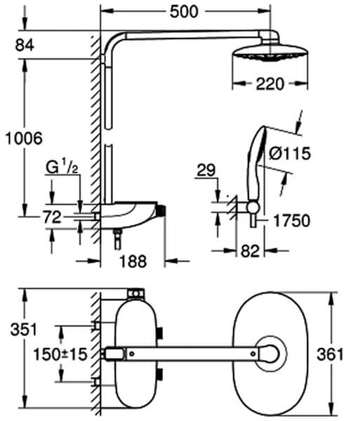 Technical drawing 51101 / 26250LS0