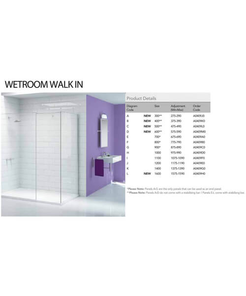 Additional image of Merlyn Ionic Showerwall Glass Panel - Avilable With Choice Of Many Combinations