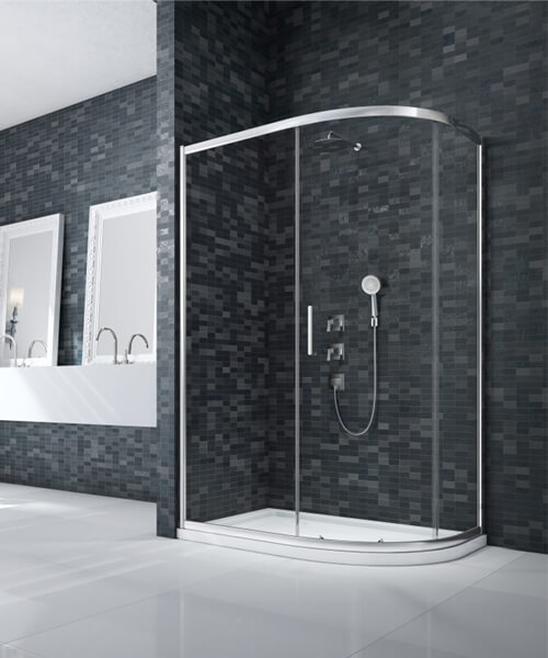 Merlyn Ionic Essence Single-Door 1000 x 800mm Offset Quadrant Enclosure