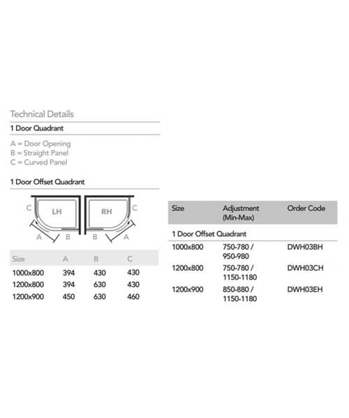 Technical drawing 57636 / DWH03BH