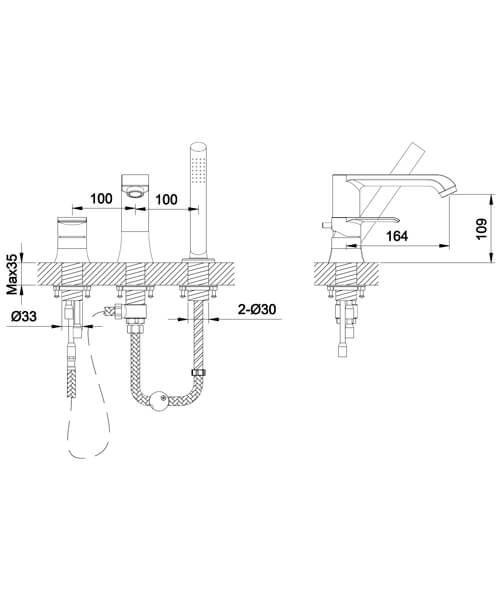 Technical drawing 60022 / S860-1100