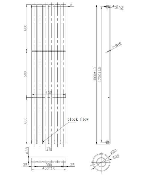 Technical drawing 59343 / LMNRSUNR12-450A