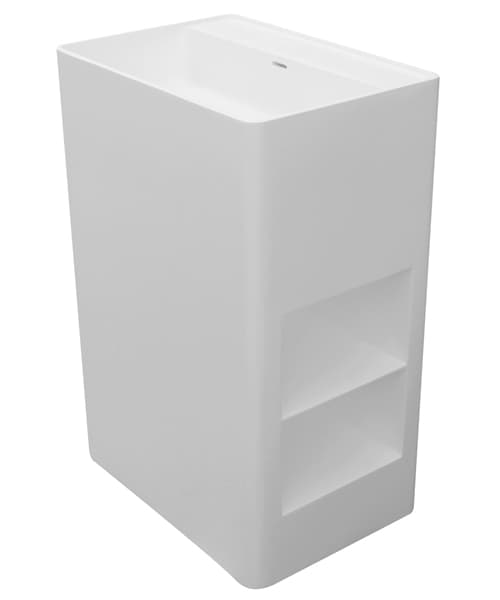 Additional image of Frontline Cabanes 600mm Solid Floor Standing Basin