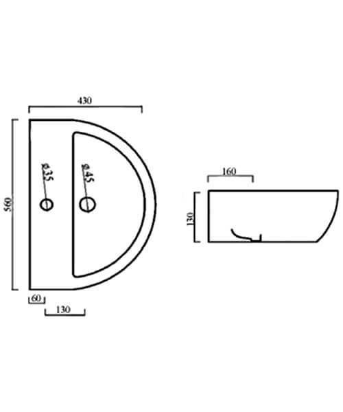 Technical drawing 59274 / BIQR555BAS1