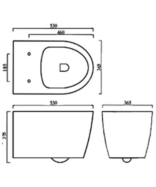 Technical drawing 59275 / BIQR5WHPAN
