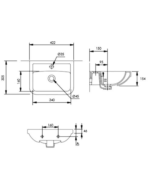 Technical drawing 55307 / DC14007