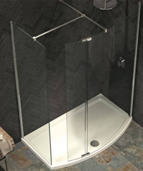 Alternate image of Kudos Ultimate 8mm Curved Panel Shower Enclosure Pack
