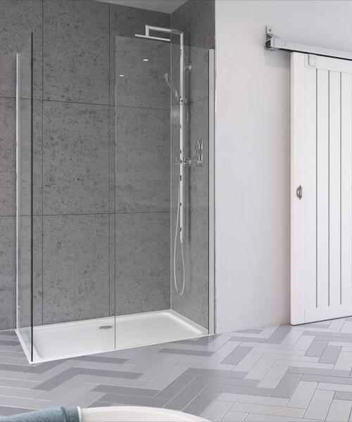 Aqata Design DS405 Walk-In Corner Enclosure 1200 x 760mm Left Hand Entry
