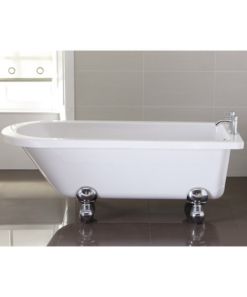April Bentham Freestanding Bath Single Ended White 1700 x 750mm