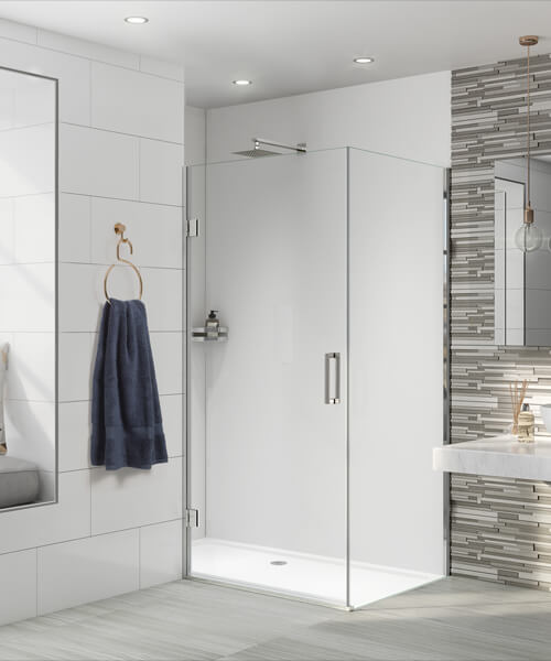 Aqata Design DS456 800 x 800mm Left-Hand Hinged Door Corner Enclosure