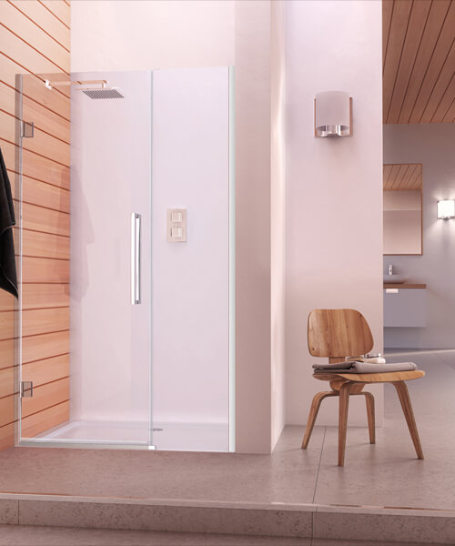 Aqata Design DS457 800mm Left-Hand Hinged Door And Inline Panel For Recess