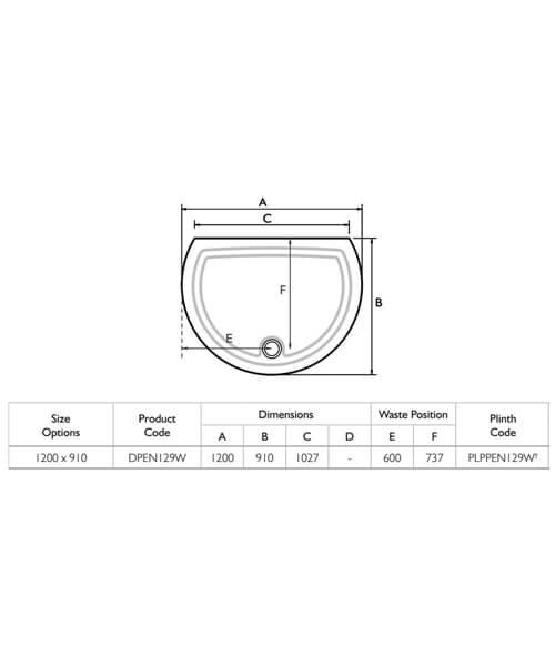 Technical drawing 25135 / DPEN129W