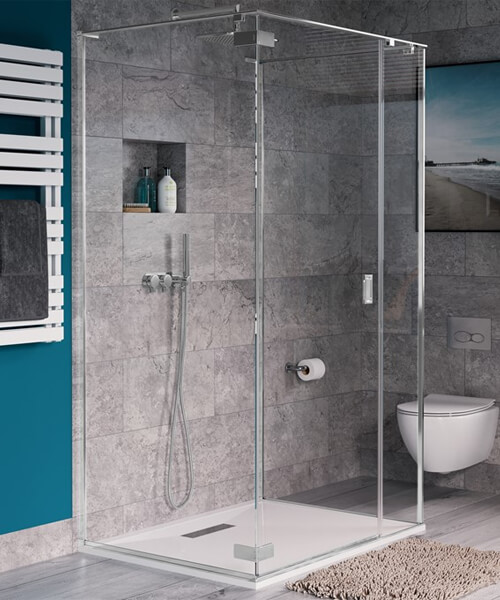 Crosswater Svelte 900 x 900mm Hinged Door Three Sided Shower Enclosure