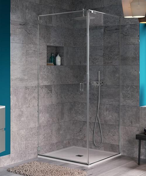 Crosswater Svelte Wall Mounted Hinged Shower Door 800mm