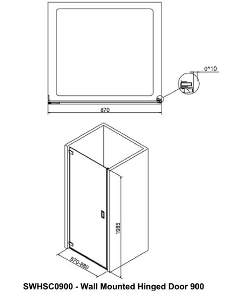 Technical drawing 49830 / SWHSC0800