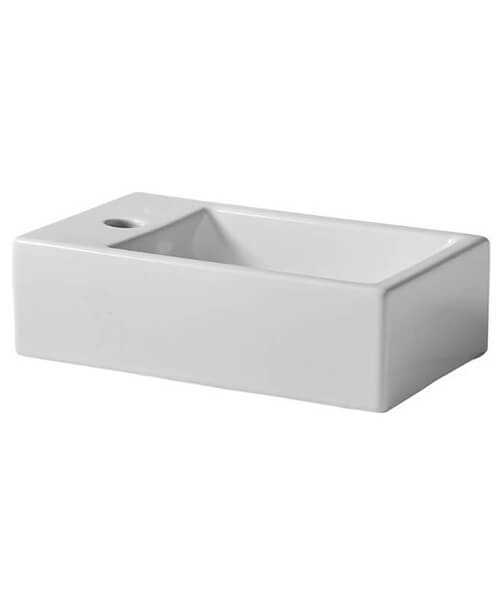 Tavistock Matrix Wall Hung 370mm Basin With 1 Left Handed Tap Hole