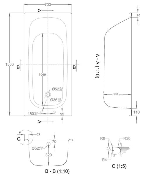 Technical drawing 59295 / RCST157TG
